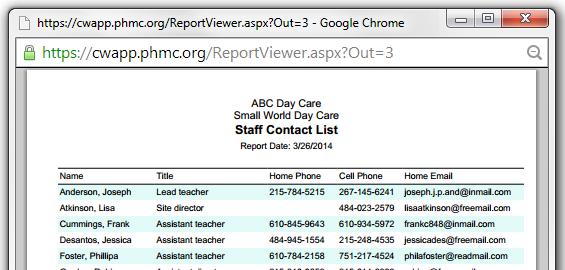 reports – Staff Report