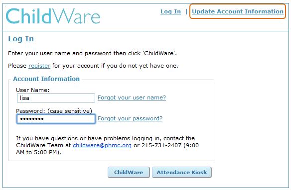 How Do I Change My Password Childware